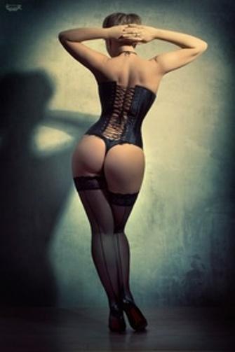 corset and thong